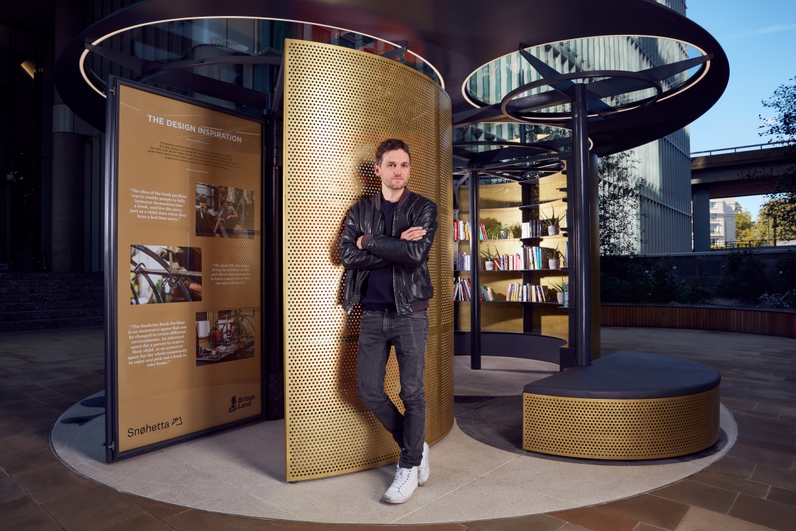 Commissioned by British Land_Snohetta Book Pavilion at Paddington Central with Julian Priess_Senior Architect.JPG