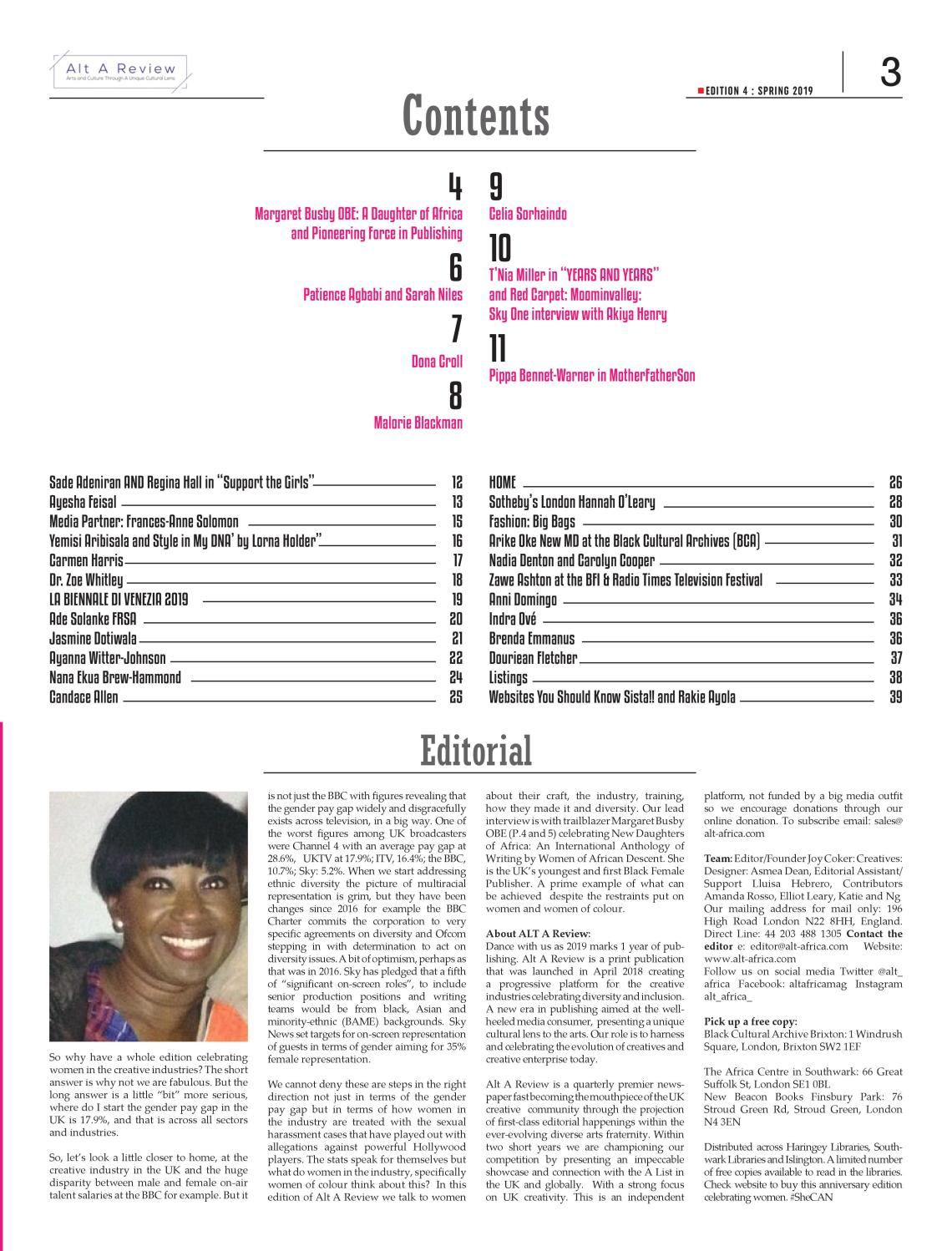 Alt A Review Spring Contents Page 2019