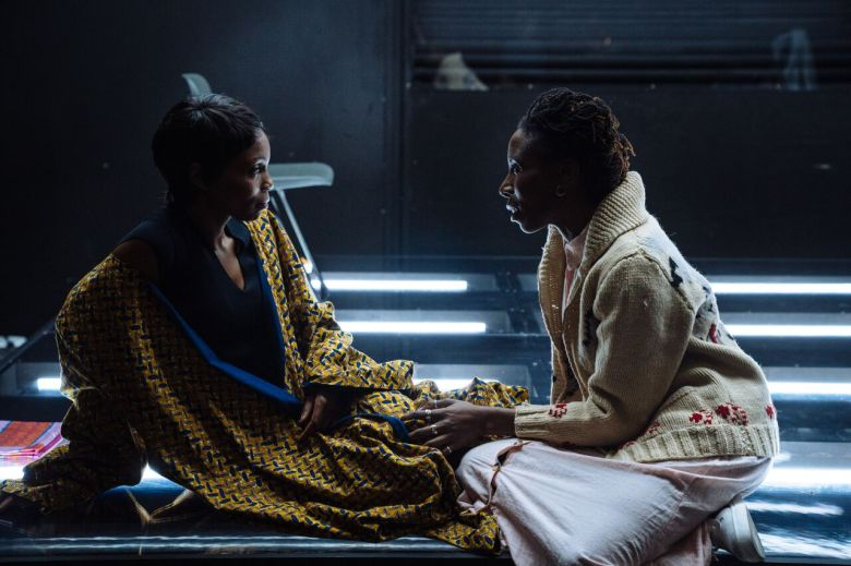 for all the women who thought the were Mad. Mina Andala (Joy) and Janet Kumah (Rose). Credit - Helen Murray